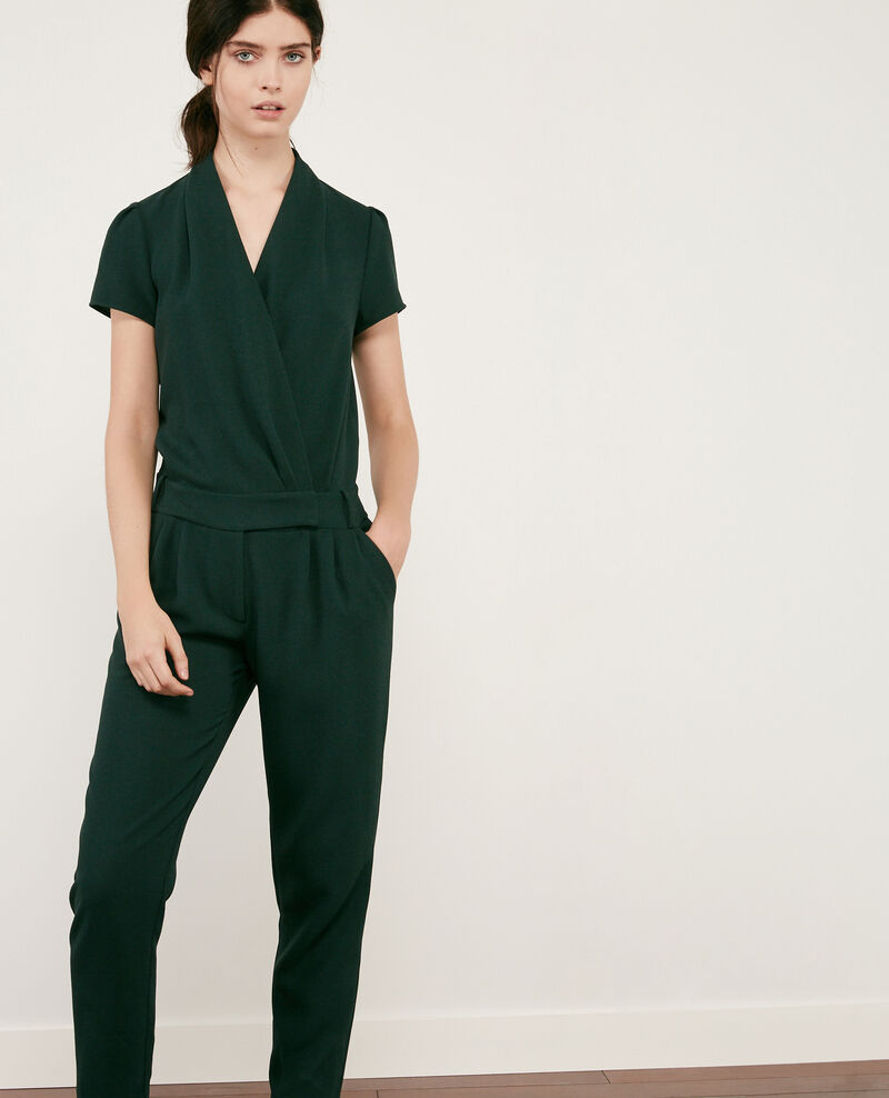 71535d3d5cb Crepe jumpsuit Deep green - Cabalona