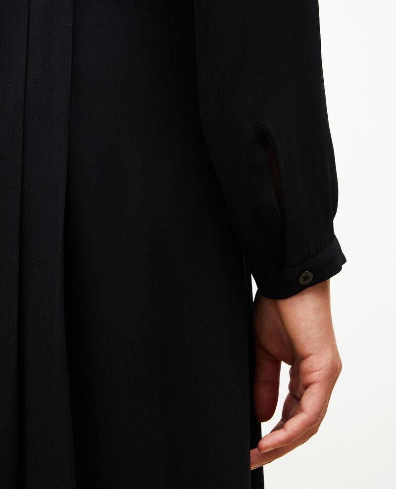 Pleated dress with belt  Black beauty Marcilia
