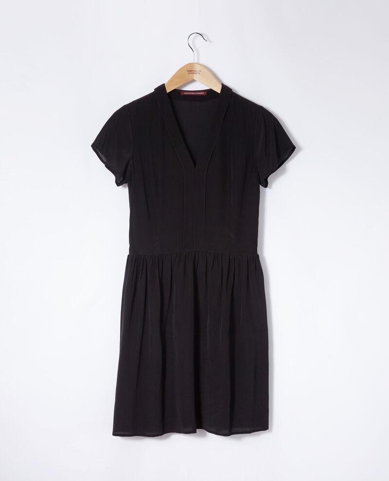 V neck dress Black Ganael