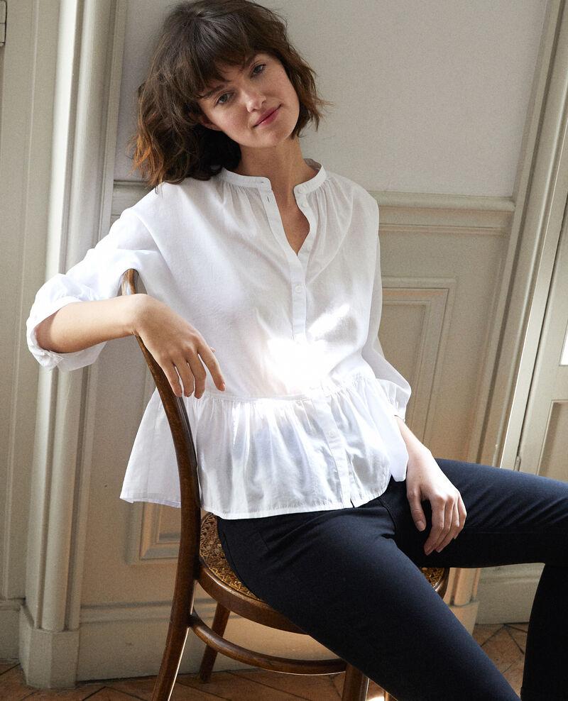 Peplum blouse White Garniture