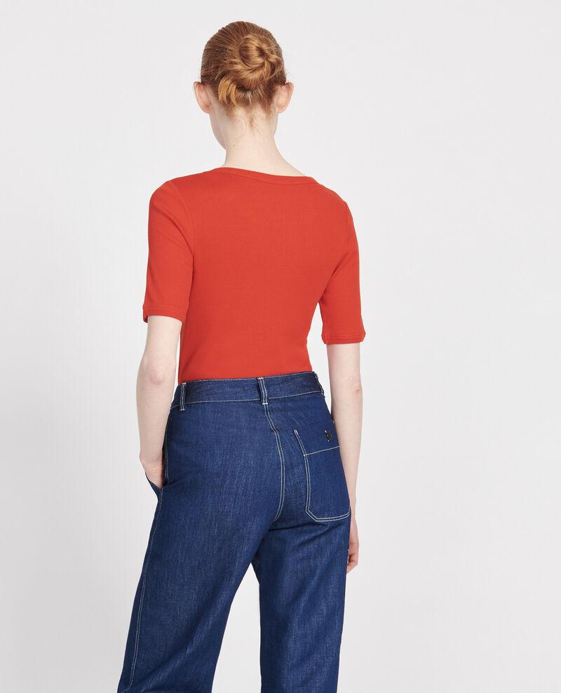 Mercerised cotton T-shirt Fiery red Lasso