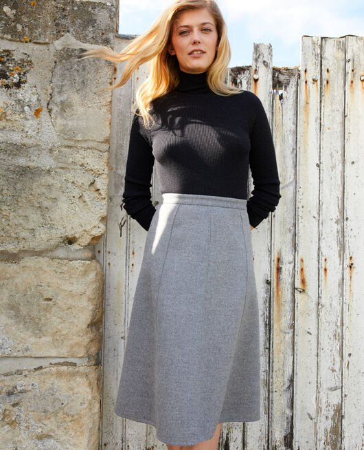 A-line skirt MIDDLE GREY