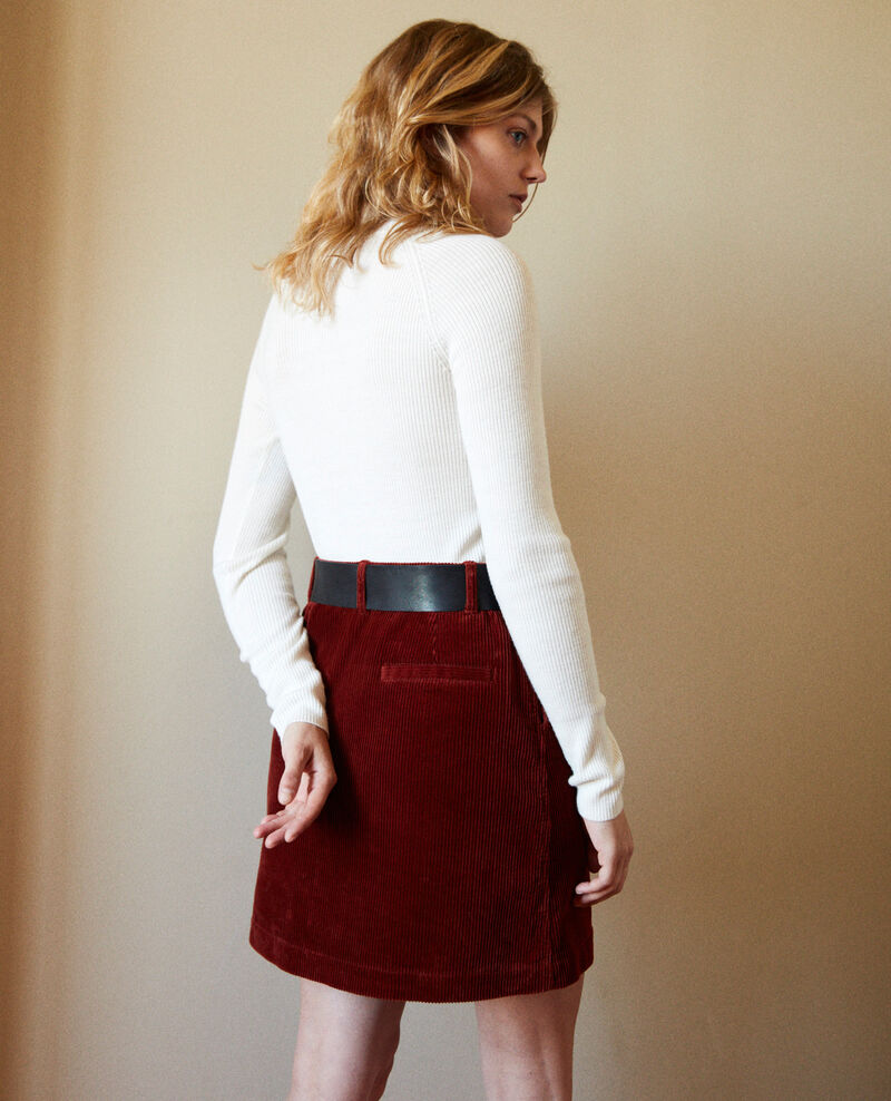 Corduroy skirt Brandy brown Jenevrier