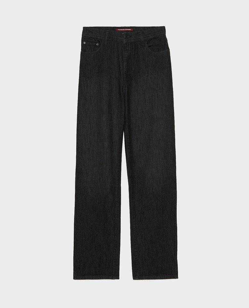 REAL STRAIGHT - High-waisted 5 pocket black jeans Noir denim Merlines