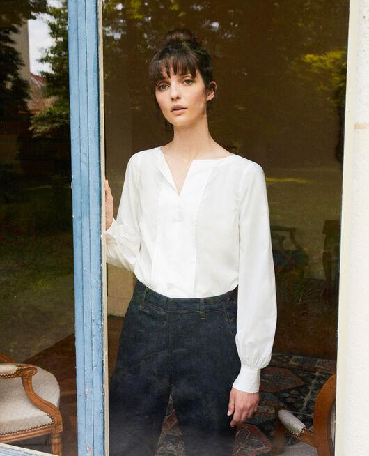 Henley blouse COCONUT MILK