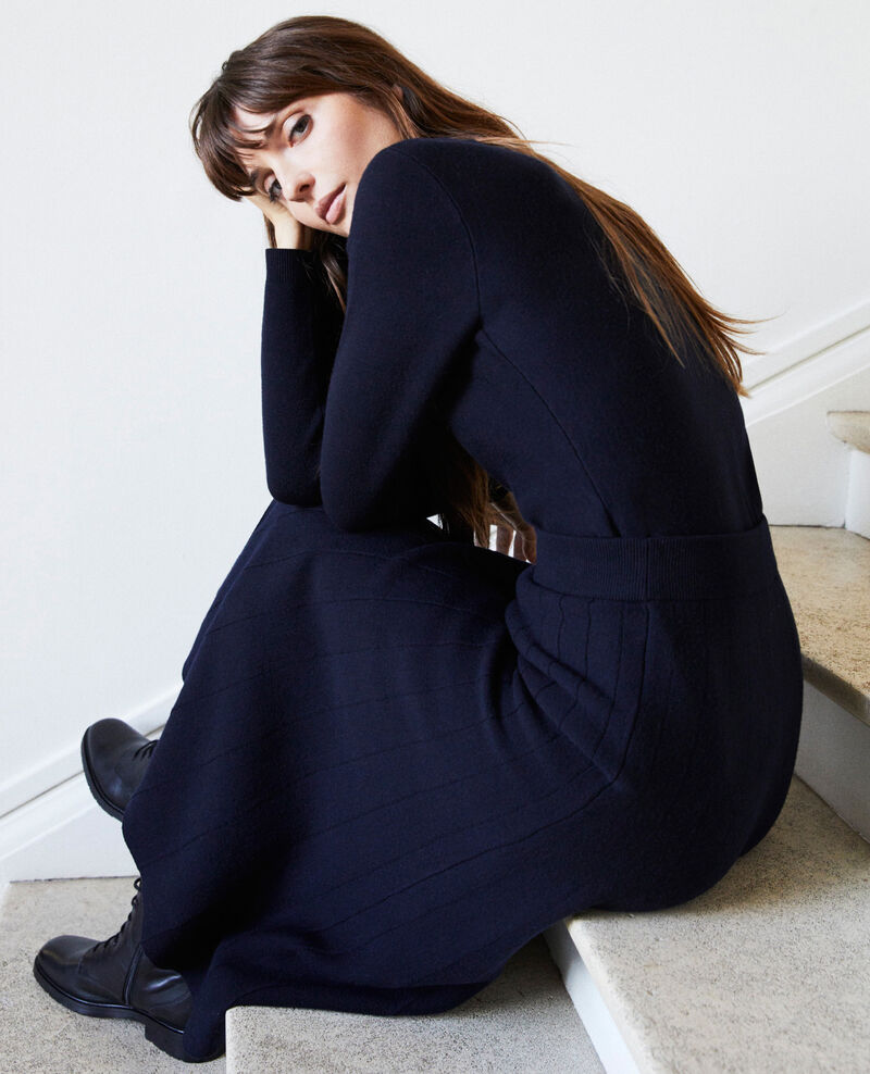 Round neck jumper Dark navy Jamoiselle