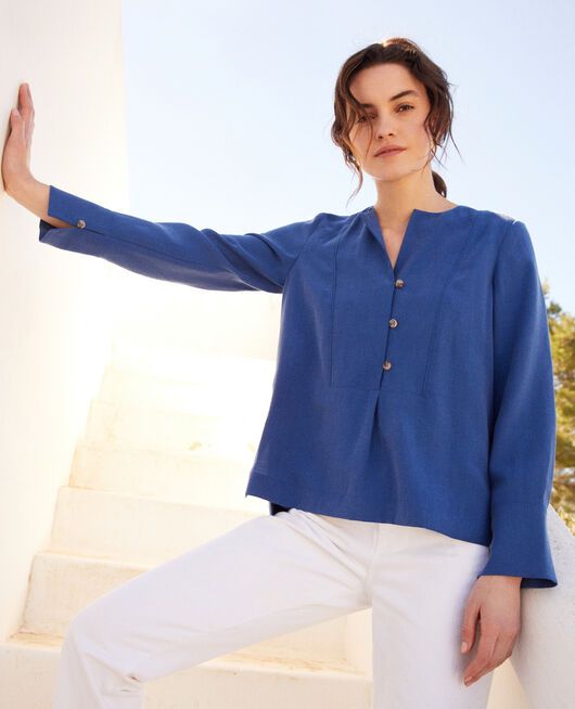 Henley blouse IMPERIAL BLUE