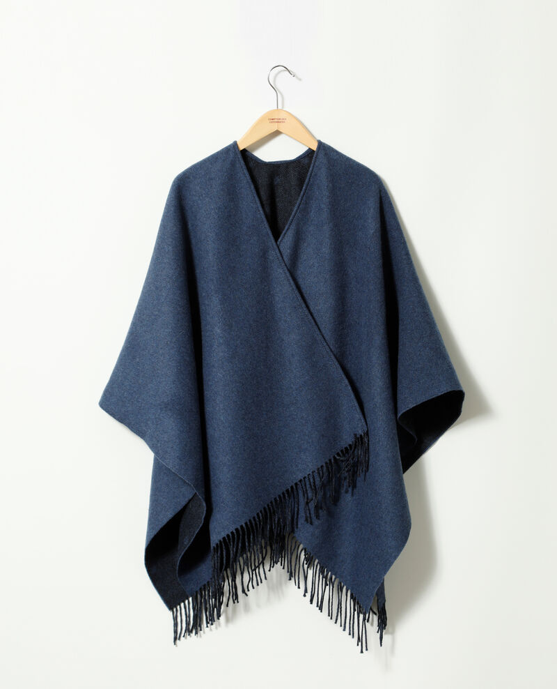 Wool blend cape Blue Gape