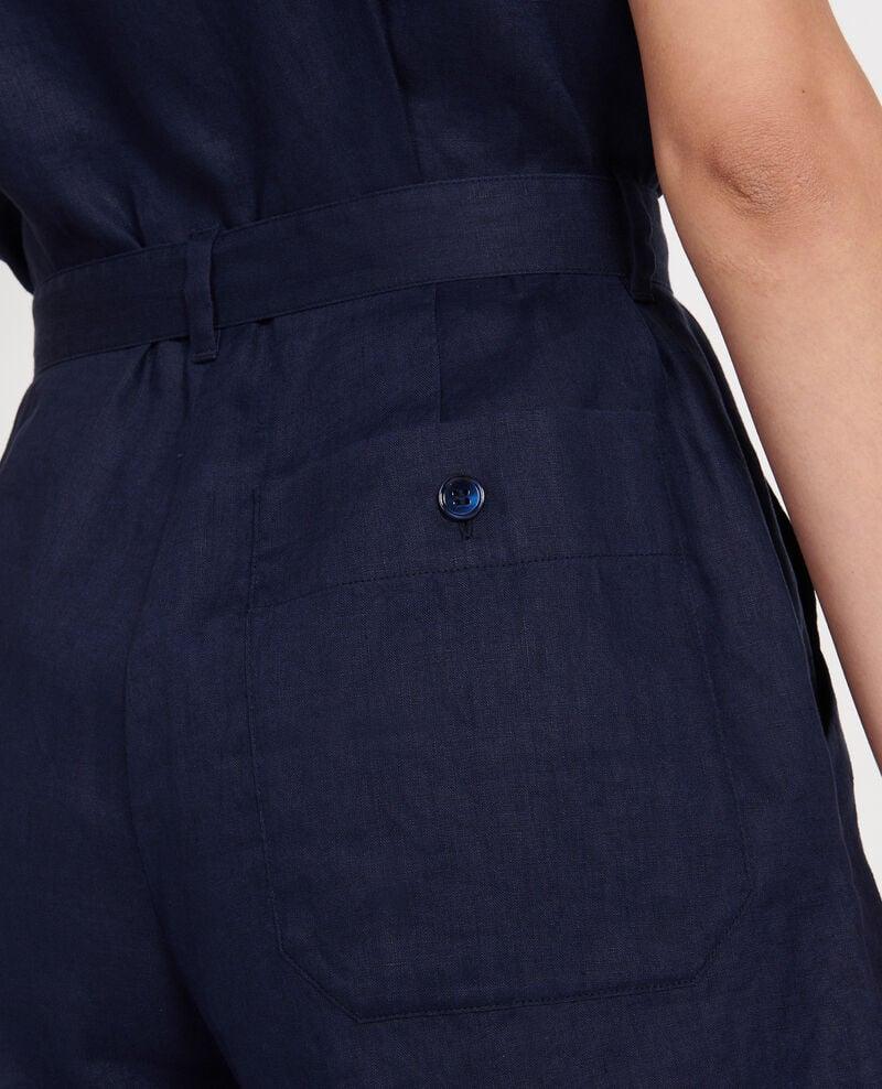 Linen playsuit Maritime blue Lariona