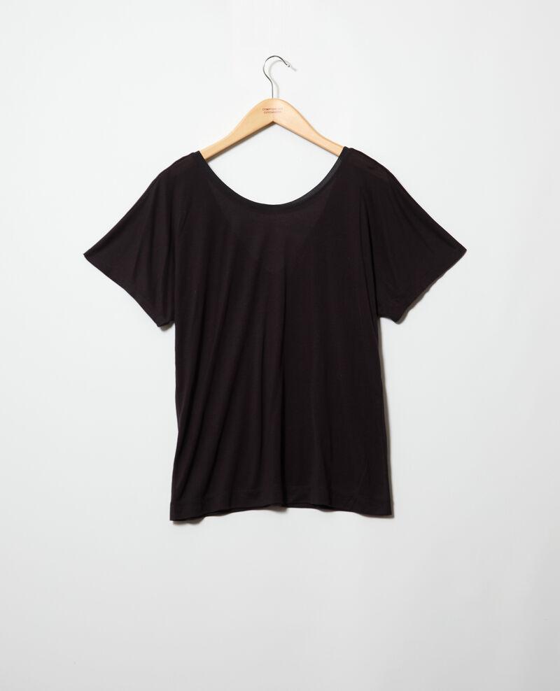 T-shirt col V dans le dos  Noir Imeric