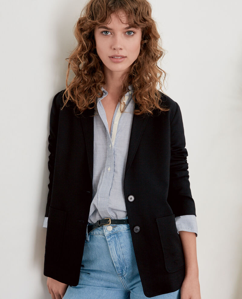 Jacket with wool Noir Falcone