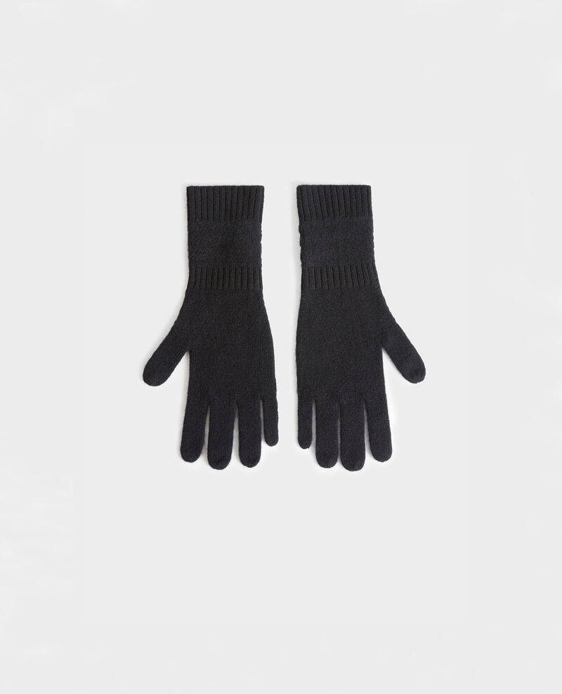 Cashmere gloves Black beauty Miramo