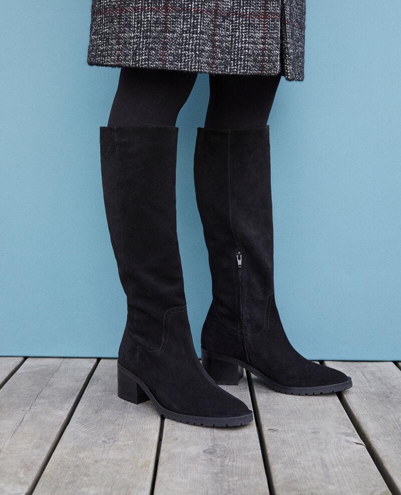 Suede boots Black Ganasho