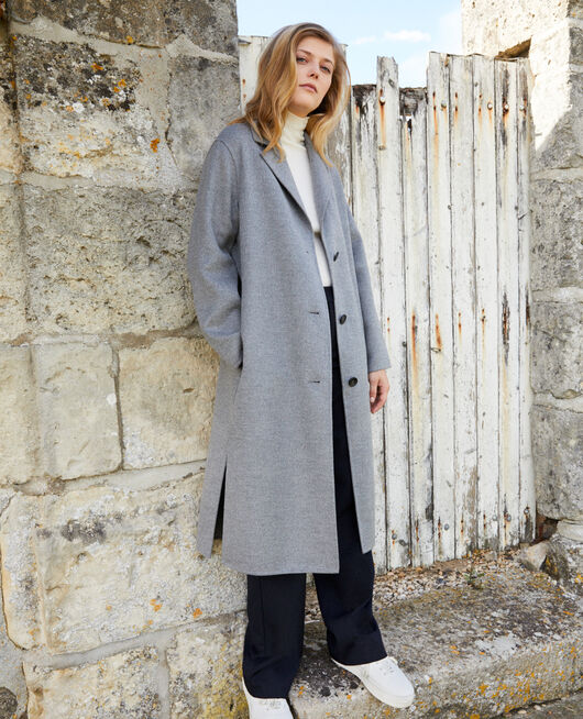 Classic double-sided coat  MIDDLE GREY