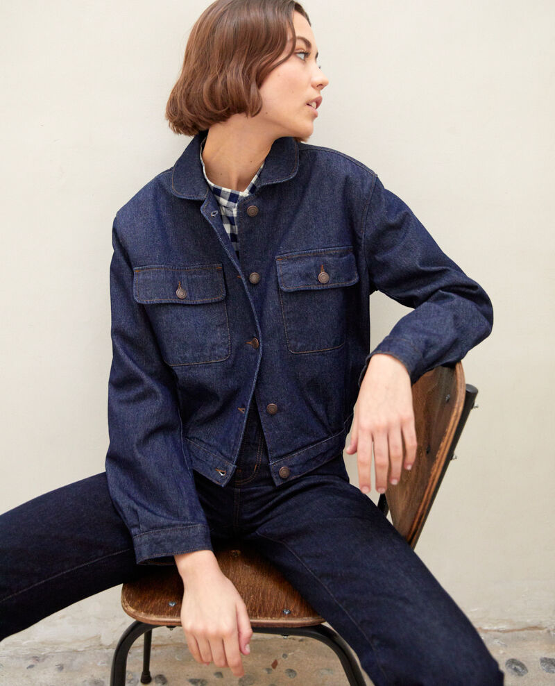 Denim jacket Blue denim Ikebouna