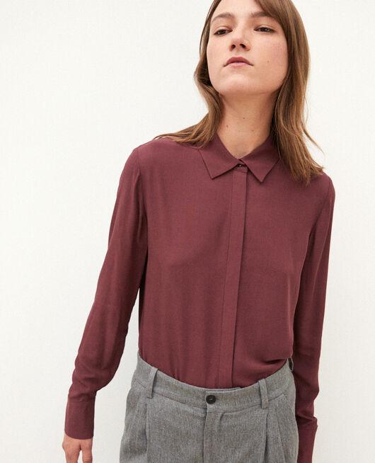 Straight-cut shirt Brown