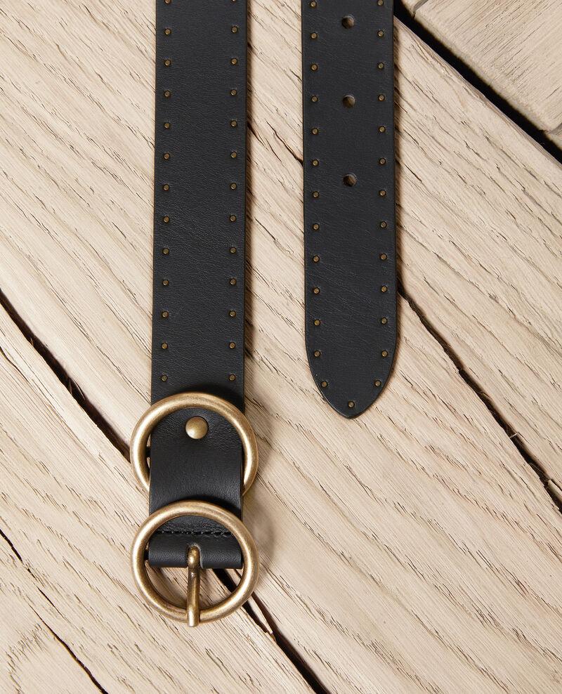 Leather belt Noir Jastud