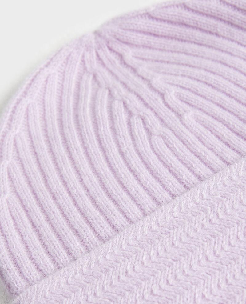 Cashmere beanie Pastel lilac Minzac