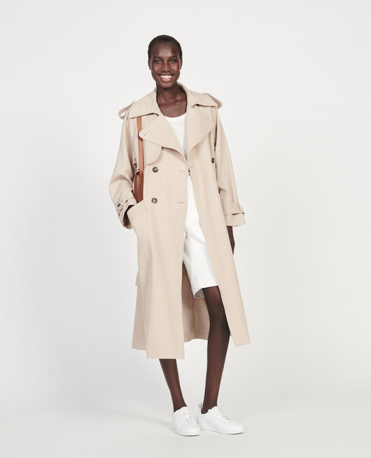 Wool trench  new iconic coat OXFORD TAN