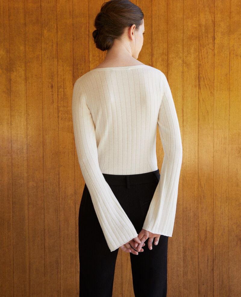 Ribbed wool jumper White 9diademe