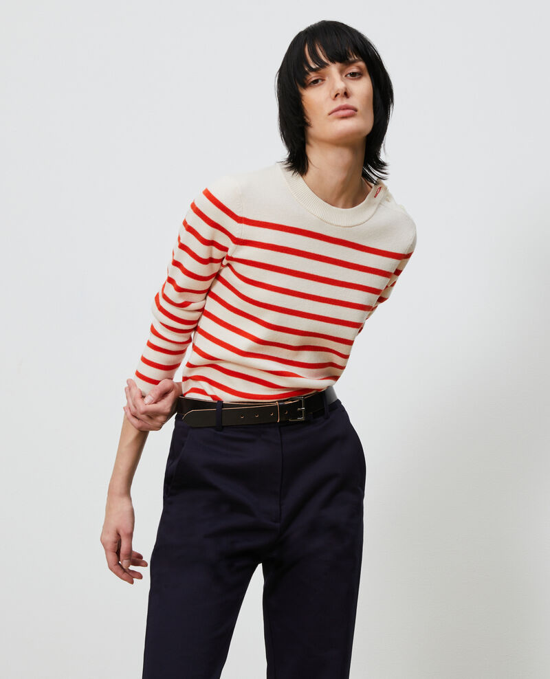 Striped wool jumper Stp_grdn_spicy Liselle