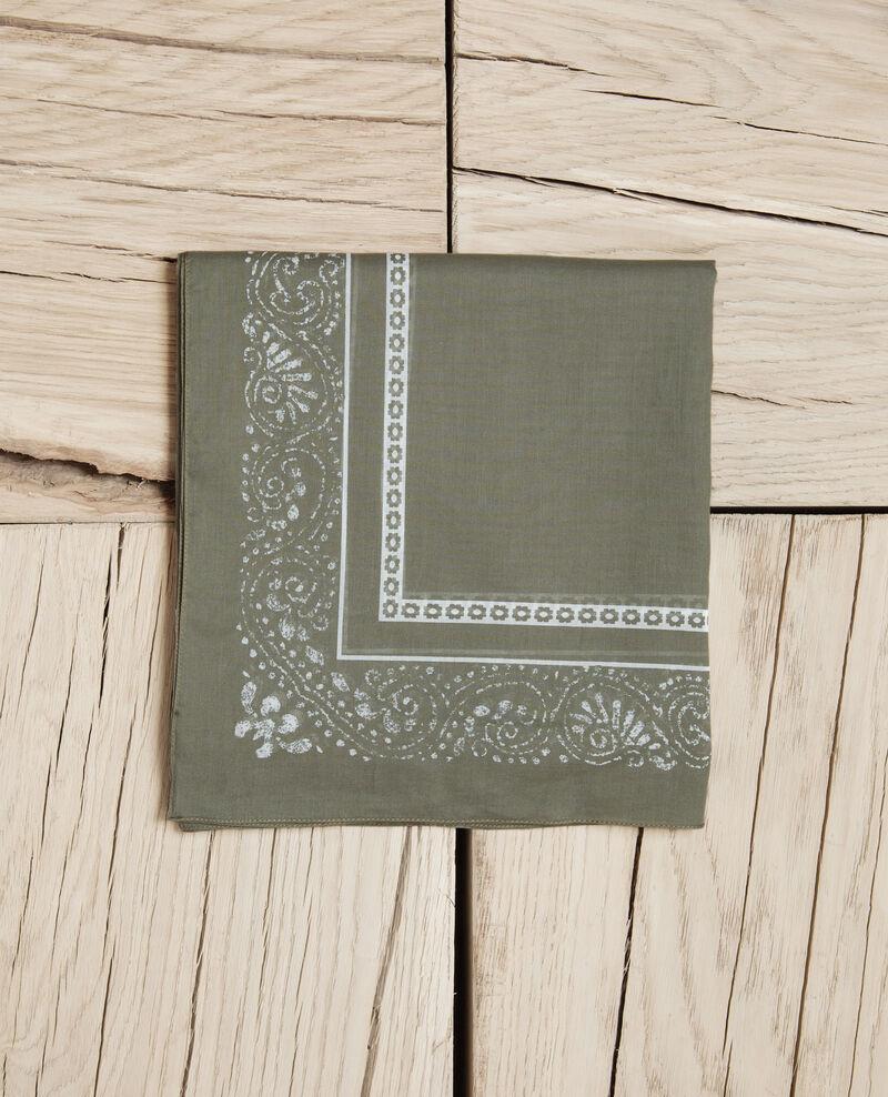 Printed scarf Cheng olive Idana