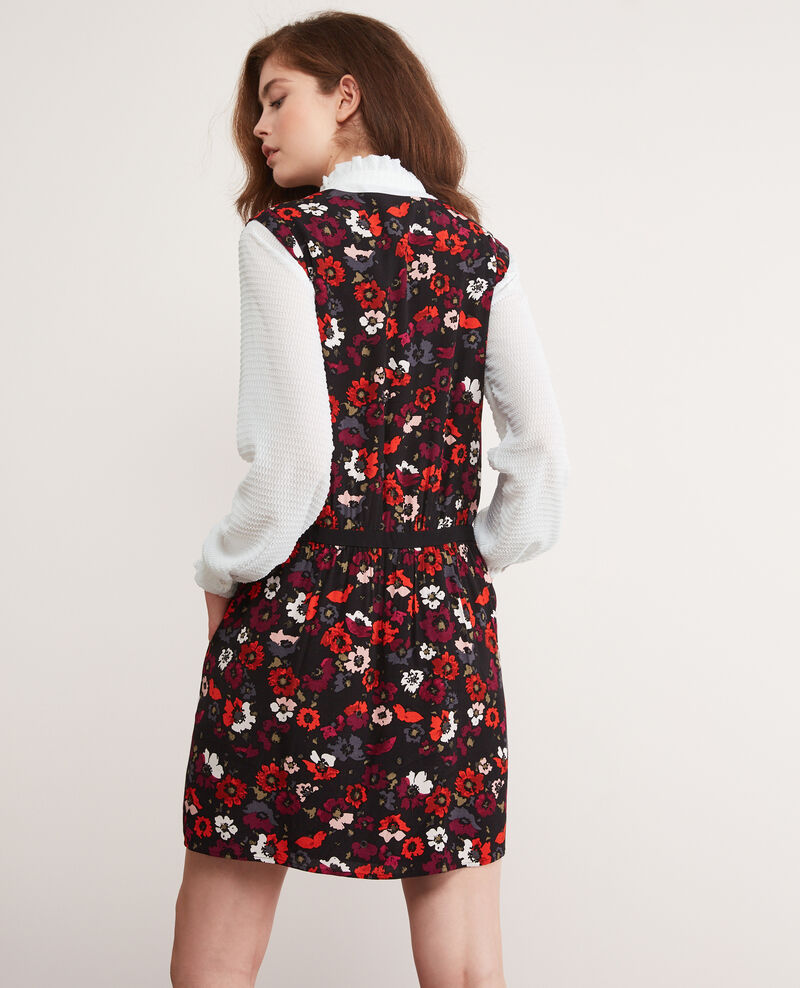 Printed dress Poppies black Deso