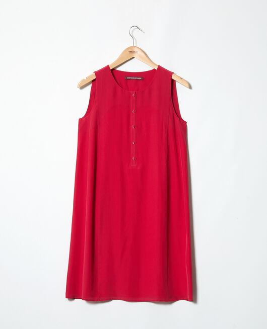 Round neck dress FUSHIA