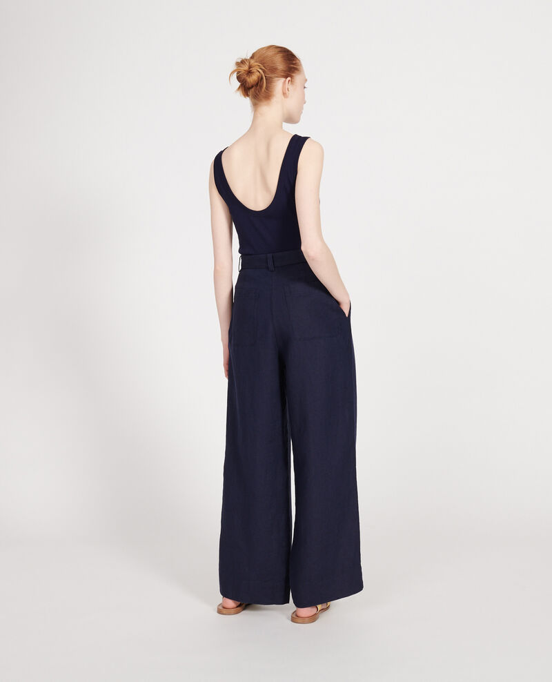 Linen trousers Maritime blue Lafare