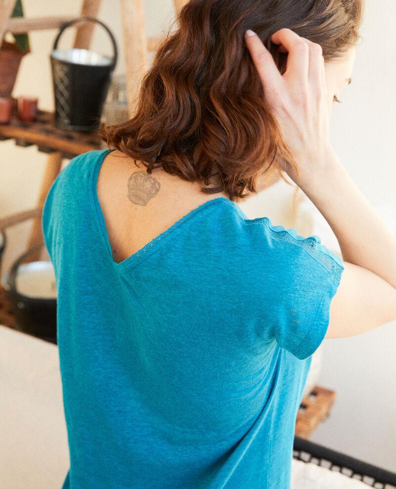 T-shirt with lace Ocean depth Itlanta