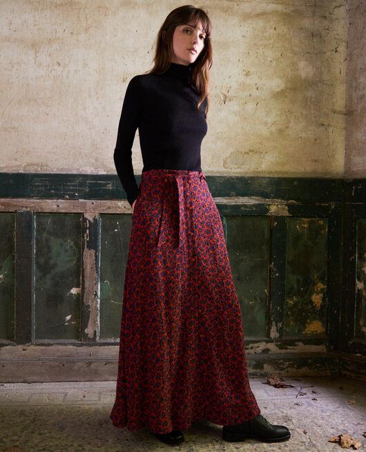 Printed maxi skirt NF MOLTEN LAVA