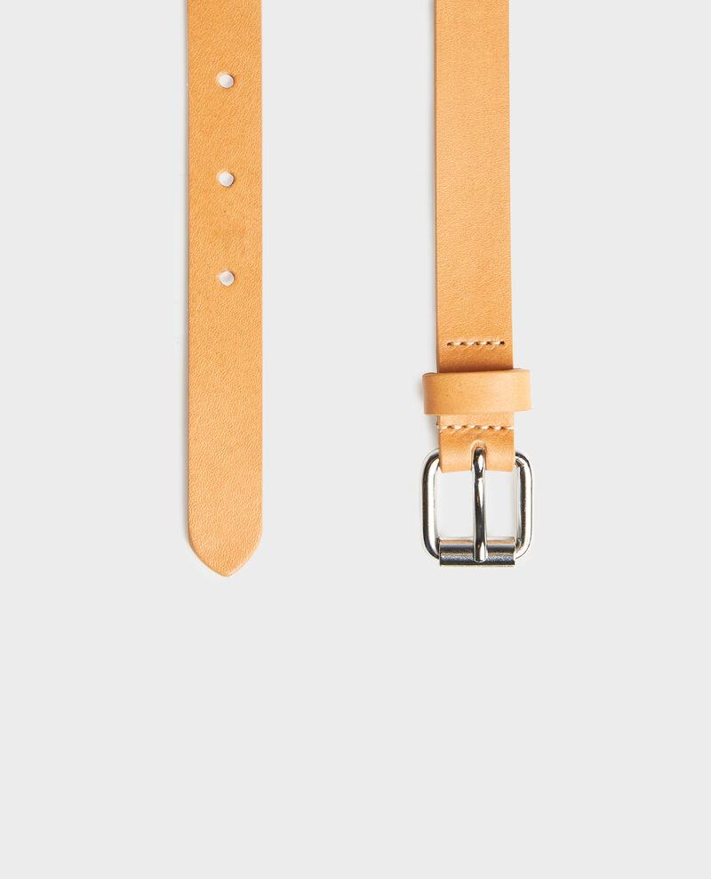 Leather belt Camel Lienor