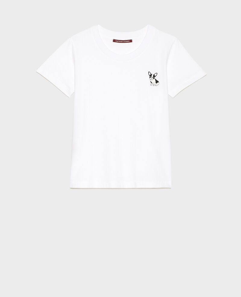 Léon cotton t-shirt Optical white Lenou