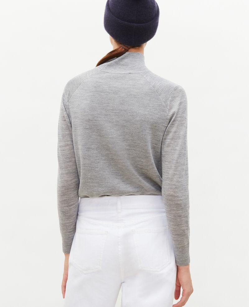 Turtleneck merino wool jumper Light grey melange Malleville
