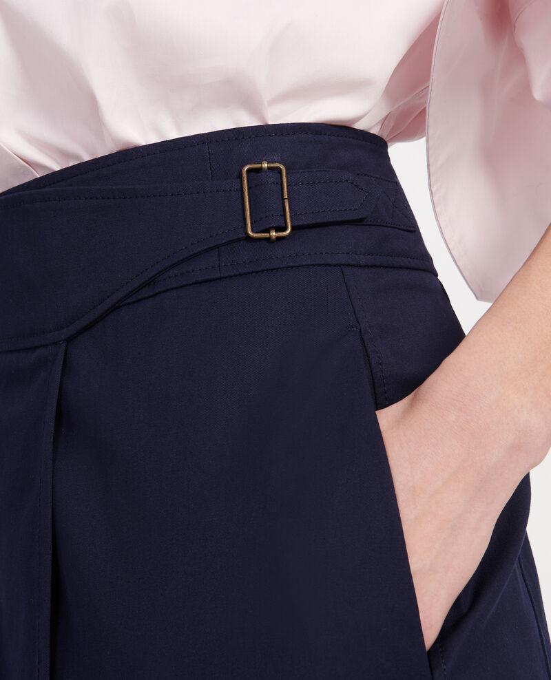 Cotton wrapover skirt Maritime blue Lyrtille