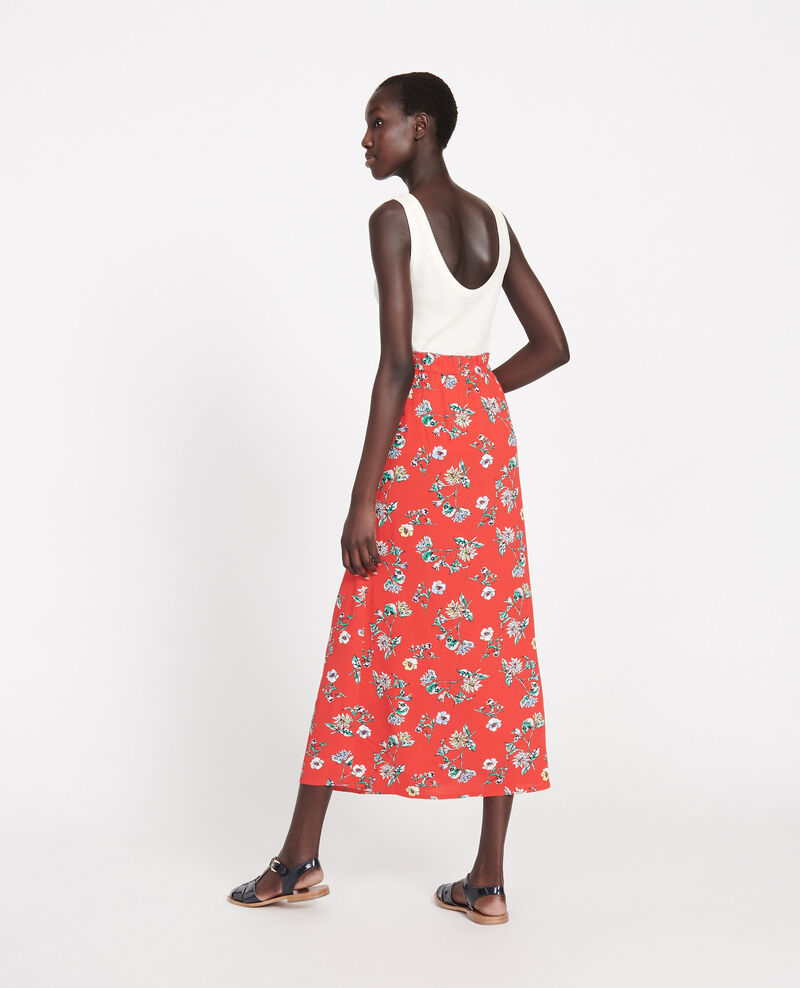 High-waist skirt Herbier fiery red haze Lustar