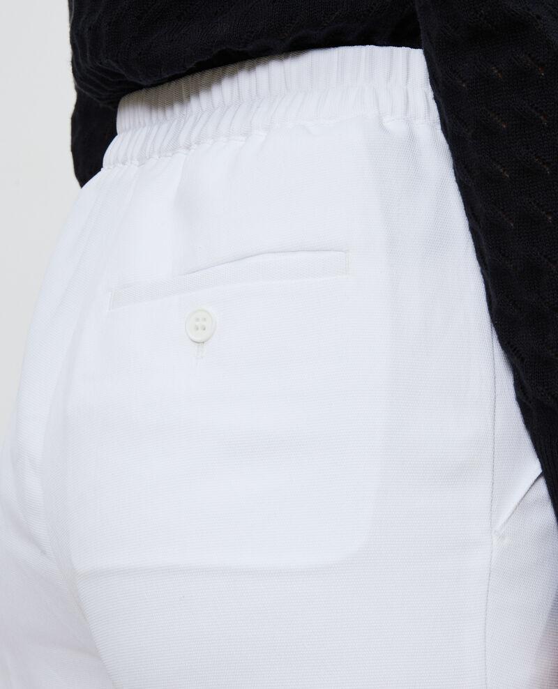 Elasticated 7/8 trousers MARGUERITE Brilliant white Napoli