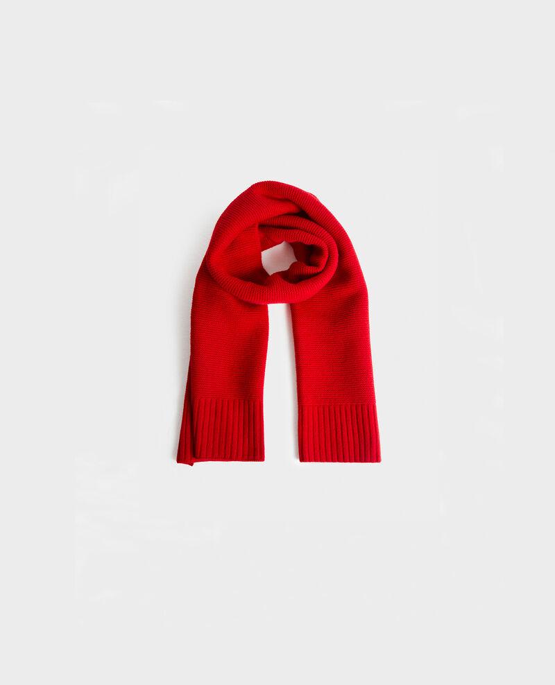 Long wool scarf Royale red Moiron