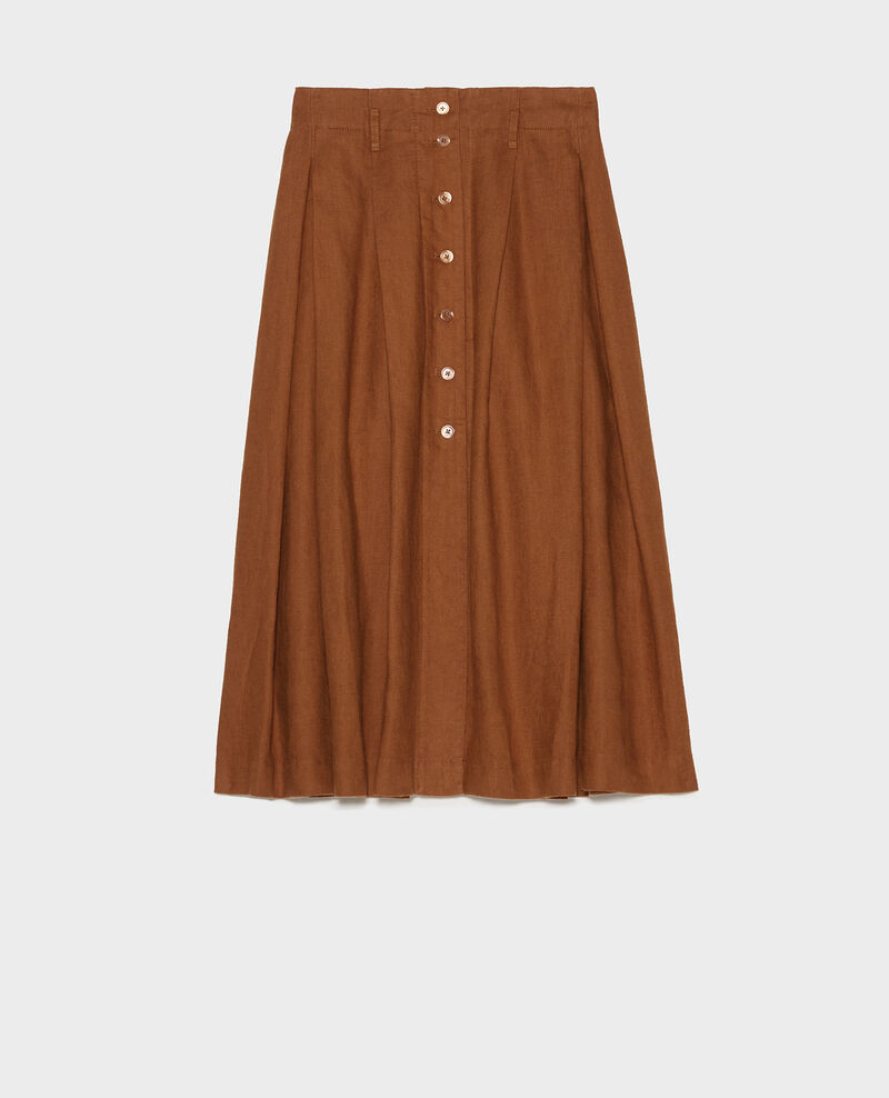 Mid-length linen skirt Monks robe Lorlange