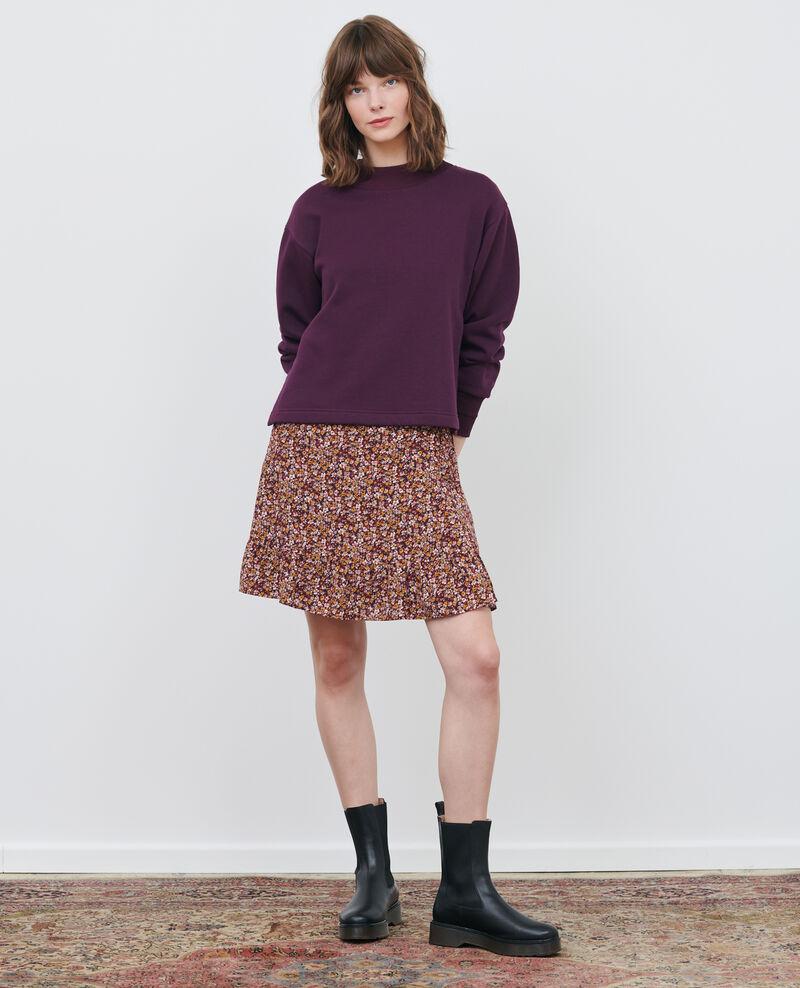 Silk wrap mini skirt Liberty cabernet Palongue