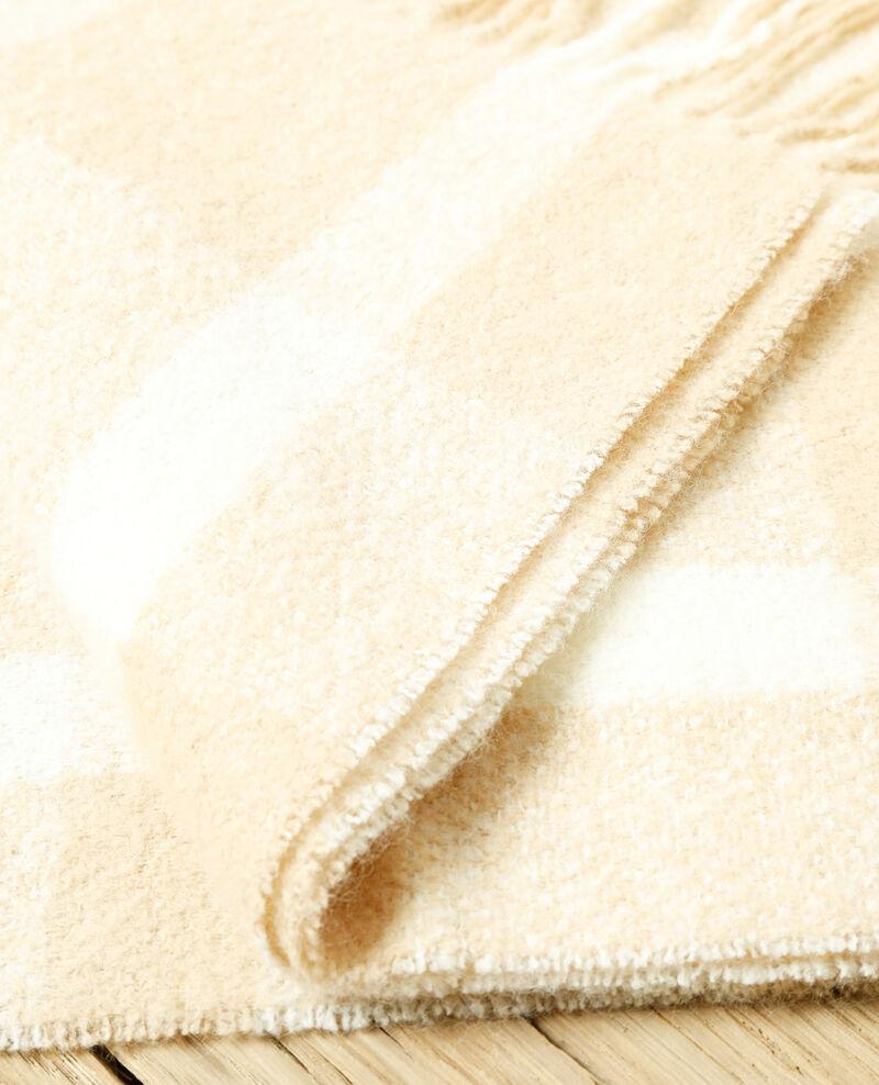 Long scarf Silver gray/off white Girasol