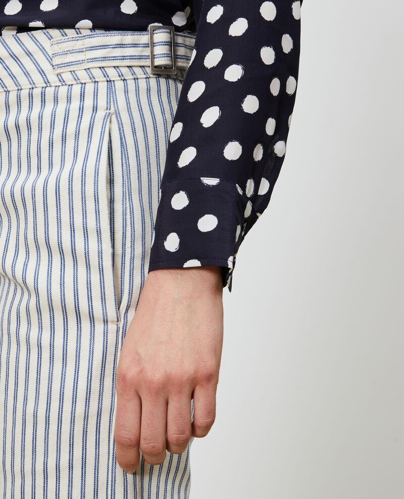 REGULAR - Striped denim pants Indigo stripe Naruk