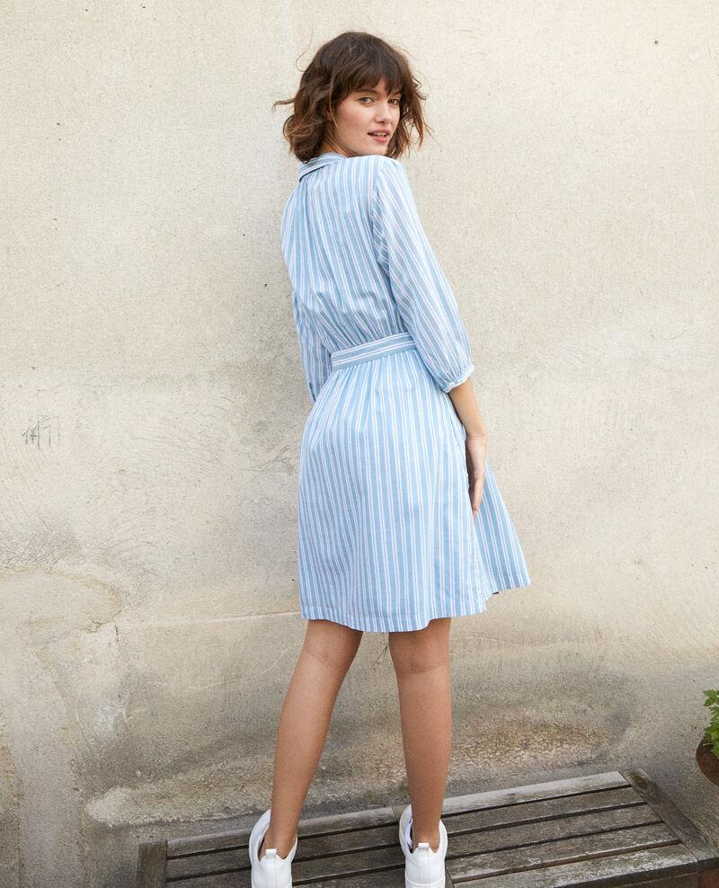 Shirt collar dress Blue Gardenia