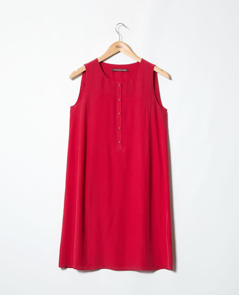 Round neck dress Fushia Idark