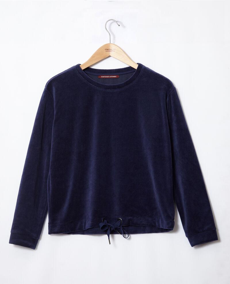 Velvet sweater Medieval blue Gala
