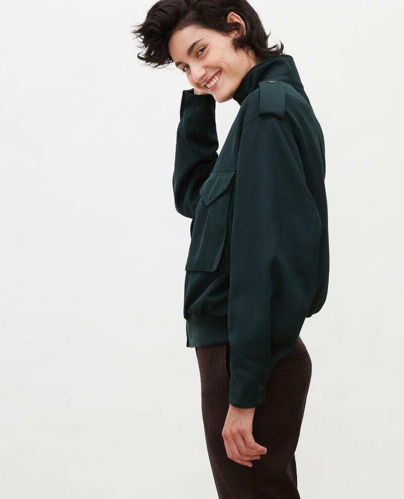 Wool gabardine aviator jacket Scarab Maulap