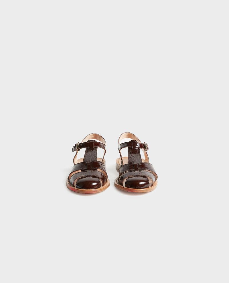 Patent leather sandals Mole Lapiaz