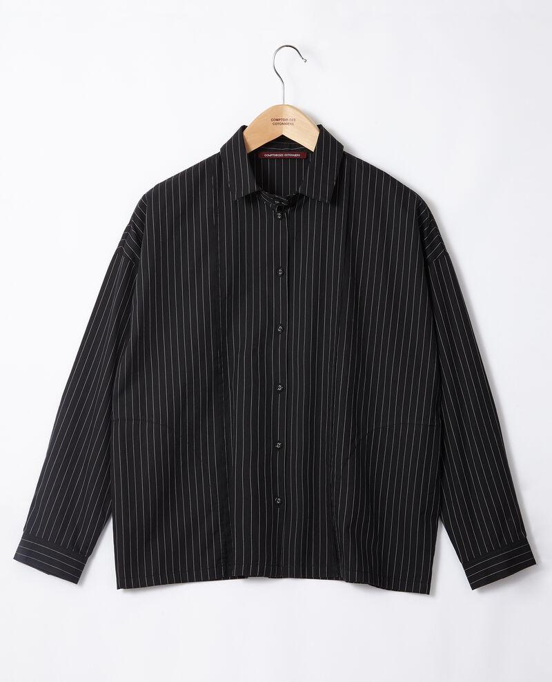 Straight-cut shirt Noir Goran