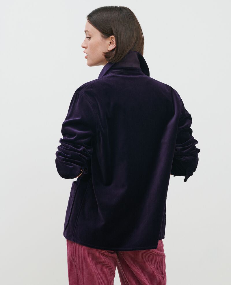 Short velvet jacket Purple Palipine