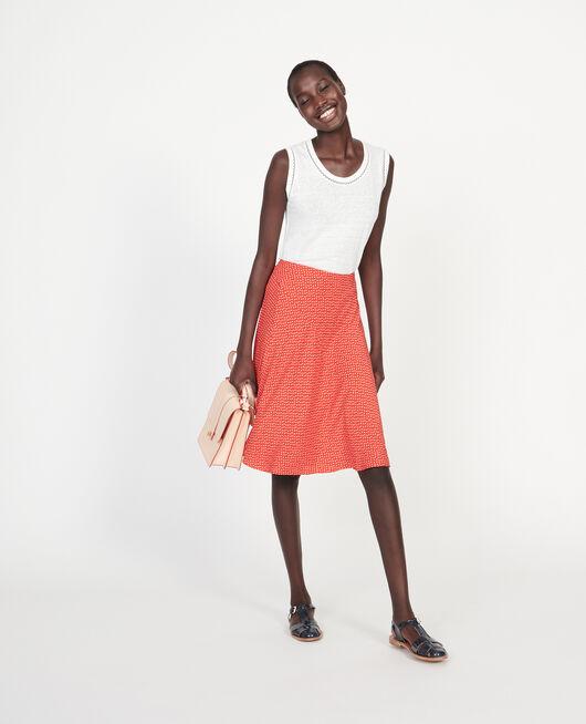 Silk skirt MEMPHIS FIERY RED